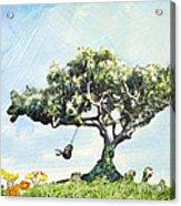 Boy On A Swing Acrylic Print
