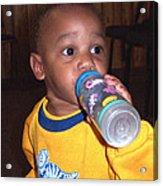 Boy With Bottle Acrylic Print