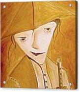 Boy With Flute 413-08-13 Marucii Acrylic Print