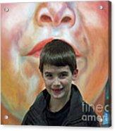 Boy With His Portrait Acrylic Print