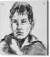 Boy With Hooded Jacket Acrylic Print