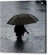 Boy With Umbrella Acrylic Print