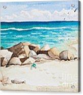 Boynton Beach Inlet Watercolor Acrylic Print