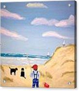 Boys At Sea Acrylic Print