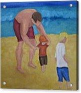 Paul, Brady Gavin At The Beach Acrylic Print