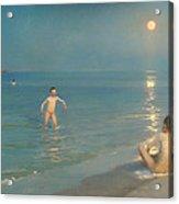 Boys Bathing At Skagen Acrylic Print