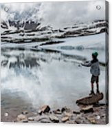 Boys Fish In Superior Lake During A Six Acrylic Print