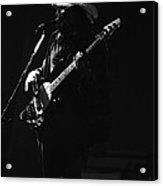 Boz On The Bass Guitar 1977 Acrylic Print