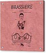 Bra Patent 10b Acrylic Print