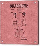 Bra Patent 17 Acrylic Print