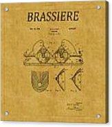 Bra Patent 19 Acrylic Print