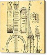 Bradbury Banjo Patent Art 1882 Acrylic Print