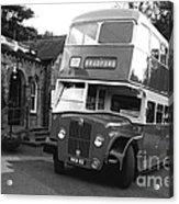 Bradford Bus In Mono  Acrylic Print