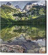 Bradley Lake Reflection - Grand Teton National Park Acrylic Print