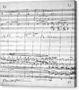Brahms Manuscript, 1880 Acrylic Print