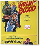 Brain Of Blood With Vampire People, Us Acrylic Print
