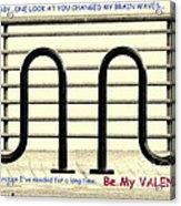 Brain Waves Valentine Acrylic Print