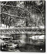 Brainards Bridge After A Snow Storm 3 Acrylic Print