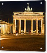 Brandenburg Gate Panoramic Acrylic Print by Melanie Viola
