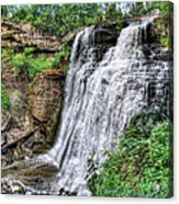 Brandywine Falls Acrylic Print by Jenny Ellen Photography