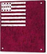 Brandywine Flag Acrylic Print by World Art Prints And Designs