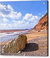 Branscombe Beach - Impressions Acrylic Print