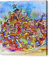 Brasilian Favela Acrylic Print