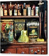 Brass Funnel And Spices Acrylic Print by Susan Savad