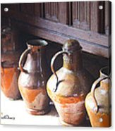 Brass Pots From 16th Century Columbus Home Acrylic Print