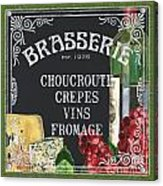Brasserie Paris Acrylic Print by Debbie DeWitt