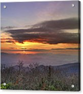Brasstown Bald At Sunset Acrylic Print