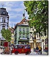 Bratislava Town Square Acrylic Print by Jon Berghoff
