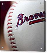 Braves Baseball Acrylic Print by Ricky Barnard
