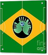 Brazilian Football Field Acrylic Print