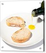 Bread With Olive Oil Acrylic Print