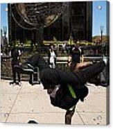 Break Dancer  Columbus Circle Acrylic Print