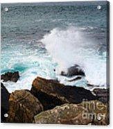 Breakers And Rocks Acrylic Print