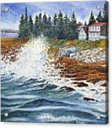Breakers At Pemaquid Acrylic Print