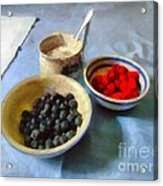 Breakfast In Red White And Blue Acrylic Print