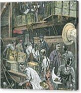 Breaking Bulk On Board A Tea Ship Acrylic Print