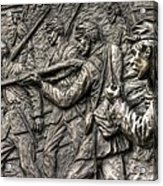 Breaking The Advance.  State Of Delaware Monument Detail-l1 Gettysburg Autumn Mid-day. Acrylic Print