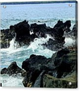 Breaking Waves At Keei Acrylic Print