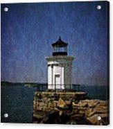 Breakwater 'bug Light House Acrylic Print
