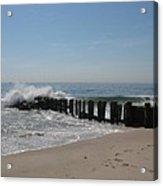 Breakwater At New Jersey Shore Acrylic Print