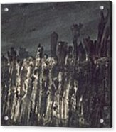 Breakwater In Jersey Acrylic Print by Victor Hugo