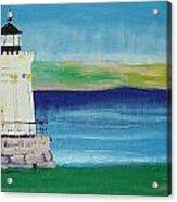 Breakwater Lighthouse Acrylic Print
