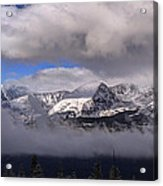 Breckenridge And Clouds  Acrylic Print