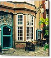 Bremen Schnoor Cafe Acrylic Print