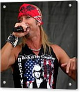 Bret Michaels In Philly Acrylic Print