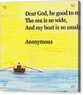 Breton Fisherman's Prayer Acrylic Print